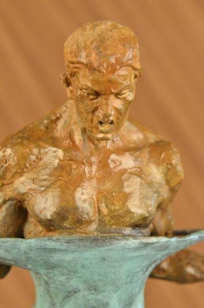 HandmadeEuropean Bronze Sculpture Original Iron Man