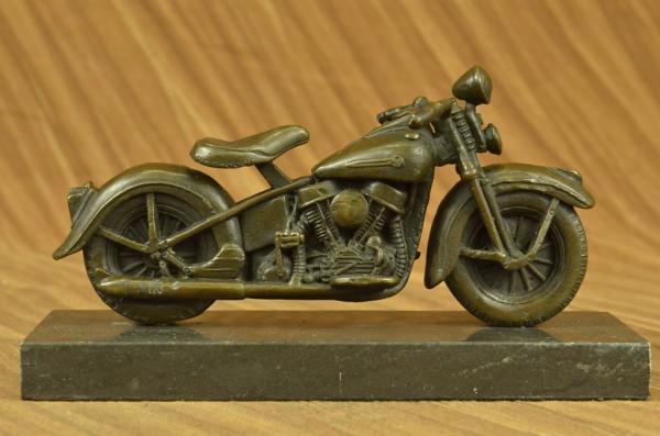 Motorcycle Model Metal Art Harley Davidson Vintage