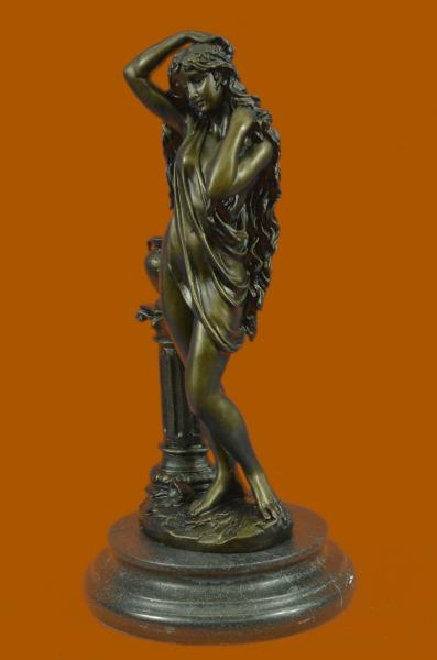 patoue bronze statue art nouveau deco naked girl sculpture. Black Bedroom Furniture Sets. Home Design Ideas