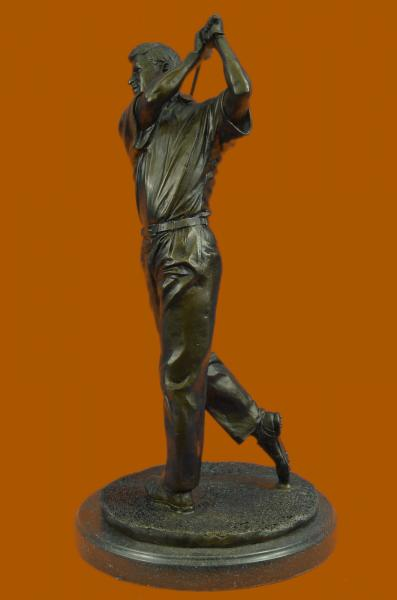 Vintage Bobby Jones Bronze Marble Base Statue Golf Club