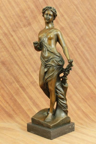 Lady with Wheat Bronze Statue for Sale + Free Shipping