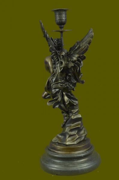 """Art Deco Marble Bronze Sculpture Angel """" Psyche and Eros ..."""