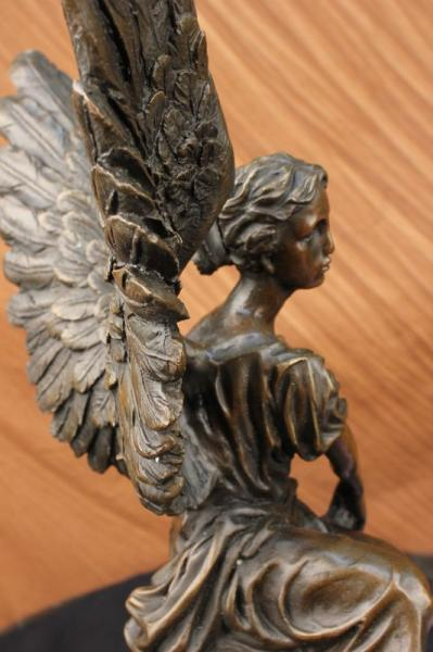 17 Quot Bronze Marble Statue Winged Victory Athena Nike