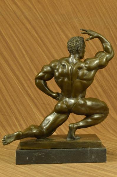 Original Iron Man Muscular Nude Male Muscle Trophy Bronze