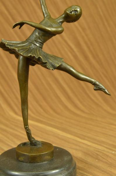 Bronze Figur Ballerina Modern Art Abstrakt Jahrhundertmitte Skulptur Signiert