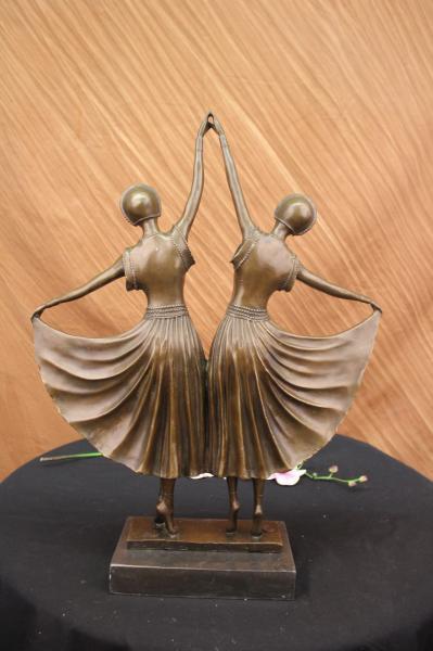 Figura decorativa bronce bailarinas chiparus escultura estatua ornamental ebay - Escultura decorativa ...