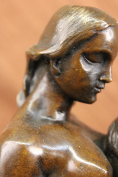 14x15 Eternal Idol By Rodin Bronze Nude Couple Sculpture