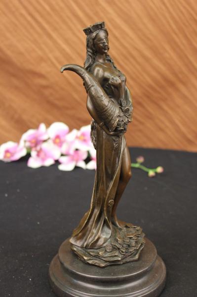 Roman Goddess of Prosperity Lady Luck Fortuna Hot Cast Bronze Statue