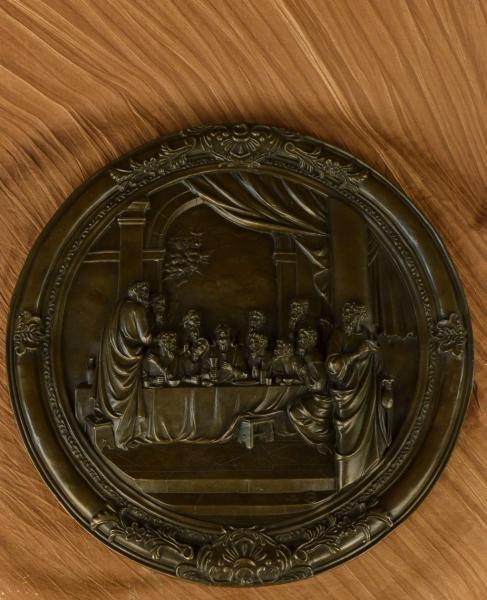 Wall Mount Bas Relief Last Supper Jesus Religious Bronze Sculpture