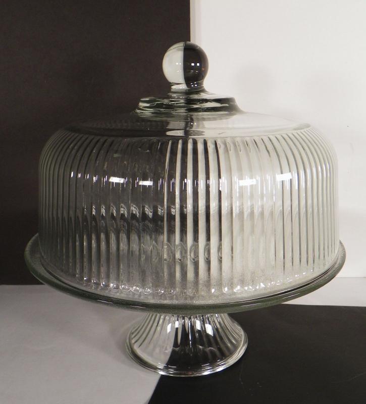 Anchor Hocking Punch Bowl Cake Plate