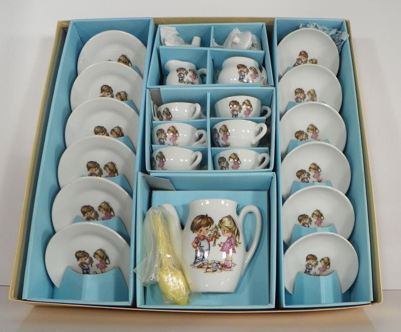 Toy Tea Sets For Boys : Vintage made in japan toy china tea set piece boy girl