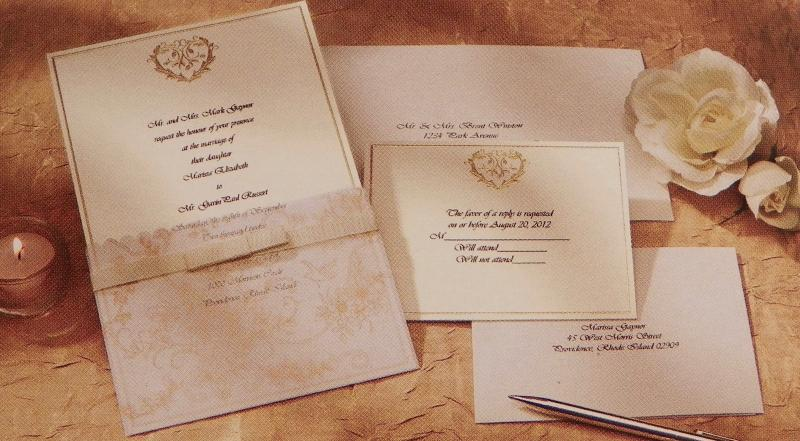Wilton DIY Bridal Invitation Kit Wedding Toile 25 Count