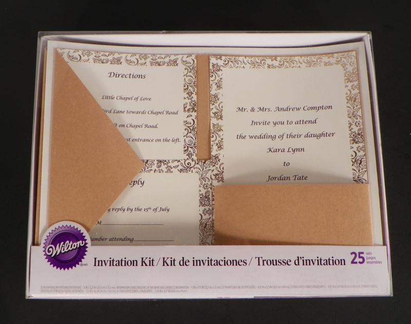 Wilton Wedding Invitations Template: Wilton DIY Wedding Invitation Kit Kraft Pocket Gold Trim