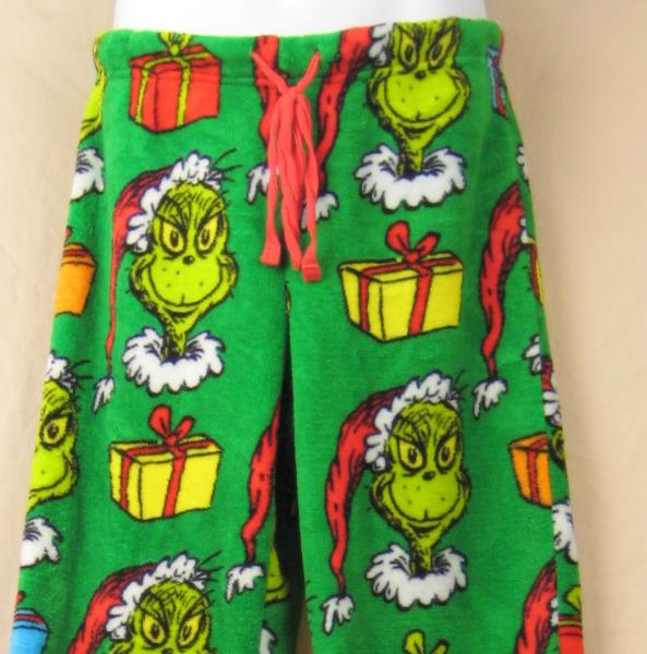 Details about Dr. Seuss Grinch Christmas Presents Polar Fleece Pajama