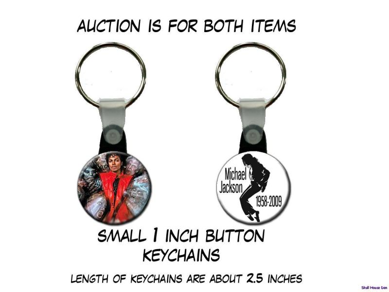 MICHAEL JACKSON Thriller   set of 2 Key Chains