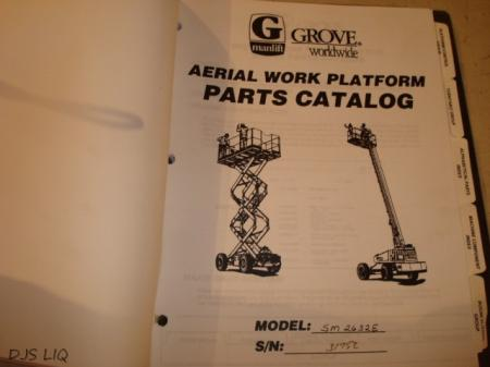 service manual grove manlift.
