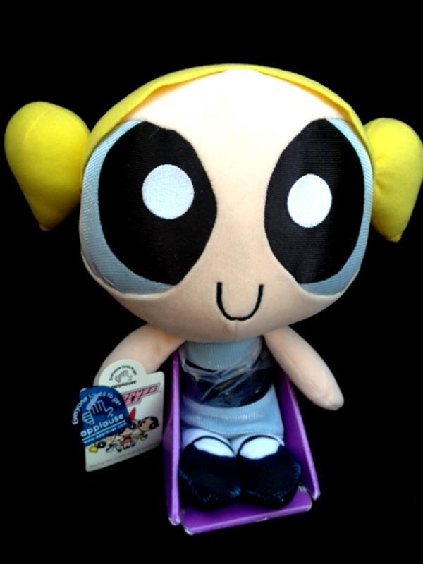 Powerpuff Girls 12 Bubbles Plush Doll by Applause yr 2000 New w Tag