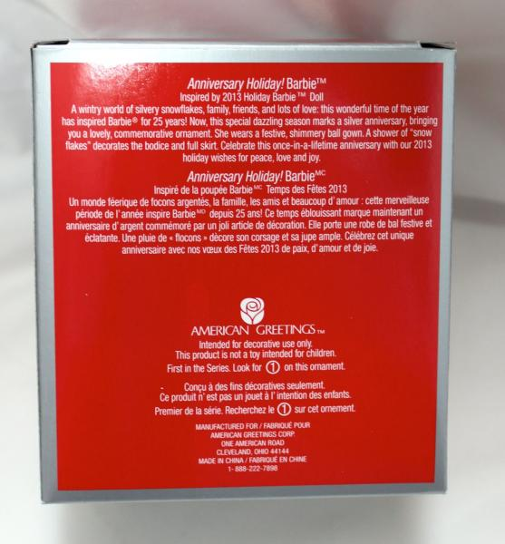 Details about 2013 AMERICAN GREETINGS 25TH ANNIVERSARY HOLIDAY BARBIE