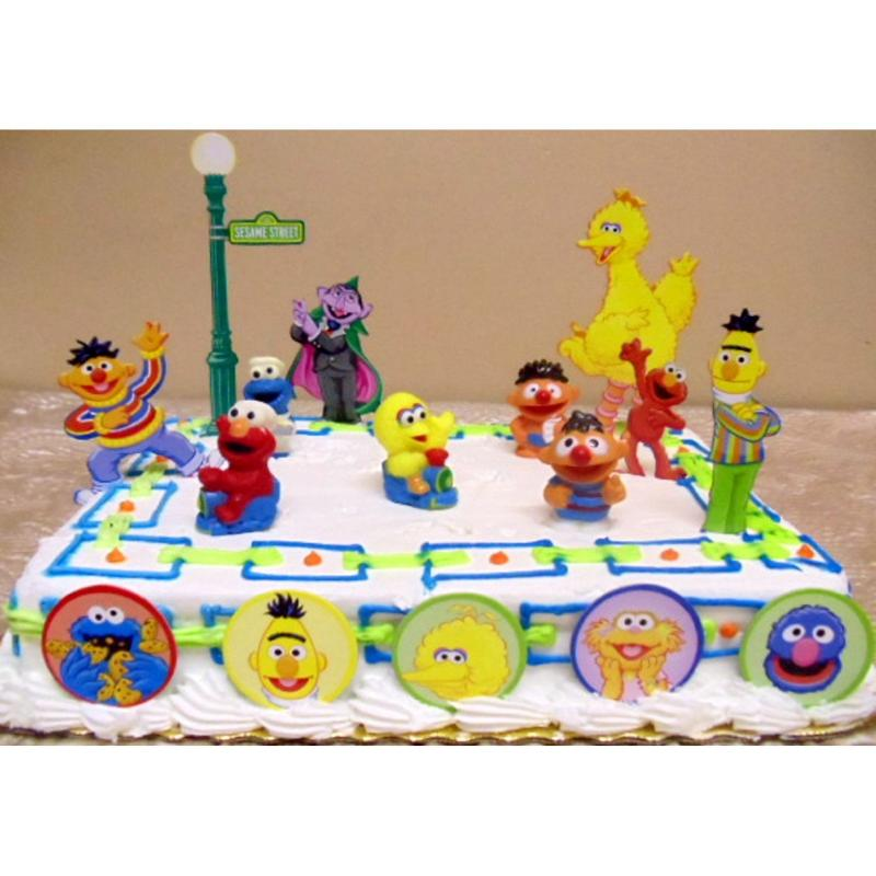 16pc Sesame Street Birthday Cake Topper Set Elmo Big Bird Cookie
