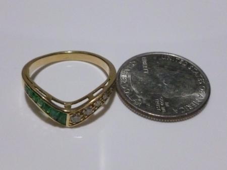 european 18k yellow gold emerald