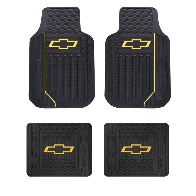 4 PC CHEVY ELITE YELLOW BOWTIE LOGO CAR/TRUCK/SUV FRONT