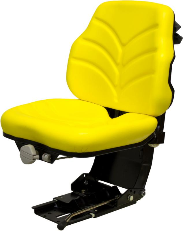 Utility Tractor Seats : Utility suspension seat yellow vinyl for farm and