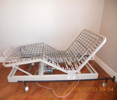 Adjustable Motorized Bed Frame Twin Solid Steel Remote