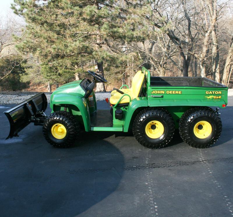 2003 John Deere Gator 6x4 6' Plow Electric Dump Chain Driven 4 Wheel Drive