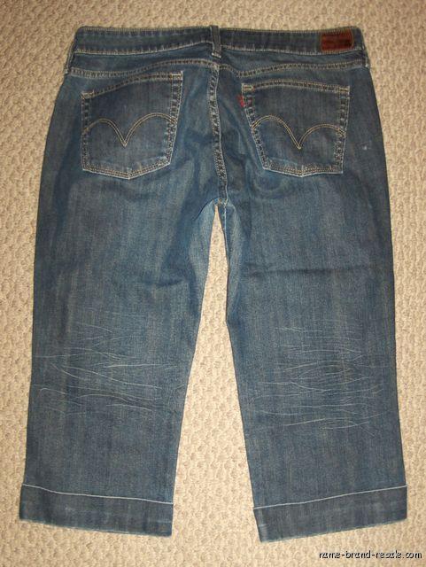 Red Tag RARE Levi's 565 Rigid Capri Jeans Womens 14 32