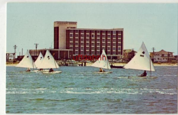 Sunfish Sailboats In Front Of Blockade Runner Motor Hotel