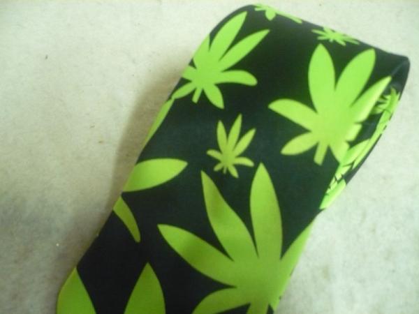 Wholesale 3 Marijuana Rockabilly Weed Neck Tie Punk