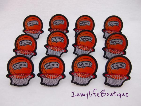 24 san antonio spurs basketball cupcake ring favor rings for Spurs decorations