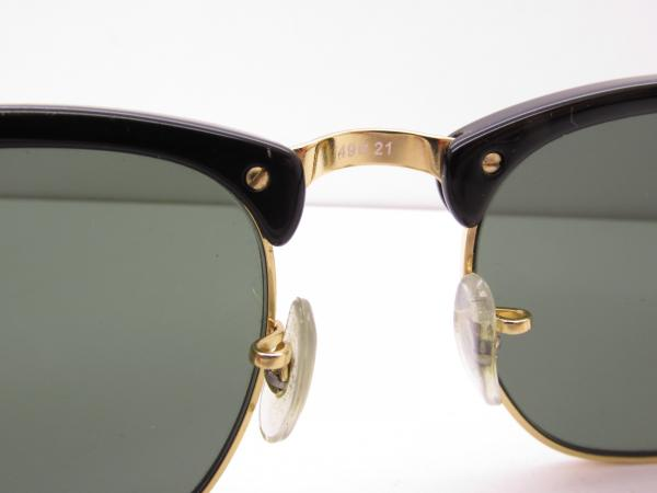 e71b3bdb25ac4 RAY-BAN RB 3016 CLUBMASTER W0366 HORN-RIMMED SUNGLASSES square 49-21 ...