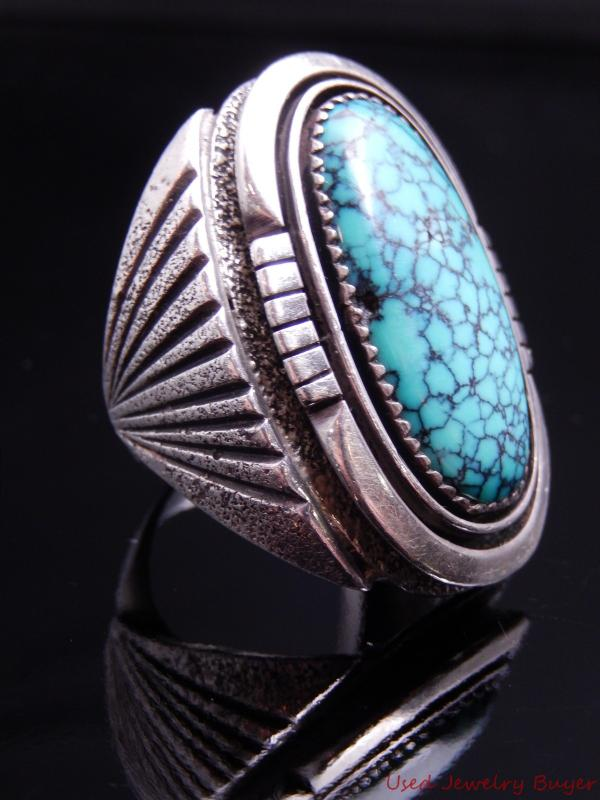 Jimmy secatero navajo vintage sterling silver turquoise for Jimmy s fine jewelry