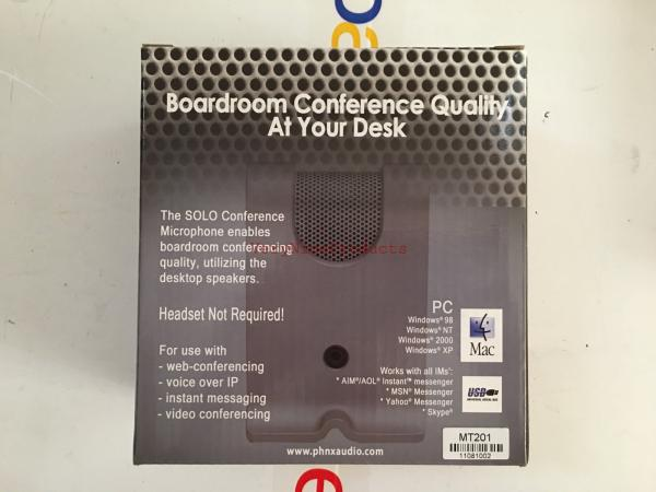 Details about New Phoenix Audio MT201 Solo USB Conference Microphone for PC  n Mac