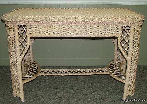 5377 henry link wicker desk chair set ebay