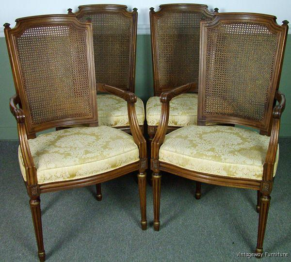 5518 henredon french set 4 dining room chairs ebay