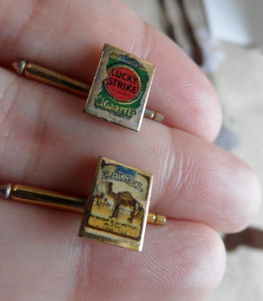 Lucky seis peniques gemelos /& Tie Pin conjuntos de 1920-1946 en caja de presentación de lujo