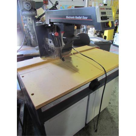 electronic 10 radial arm saw craftsman w 337 100 ebay. Black Bedroom Furniture Sets. Home Design Ideas