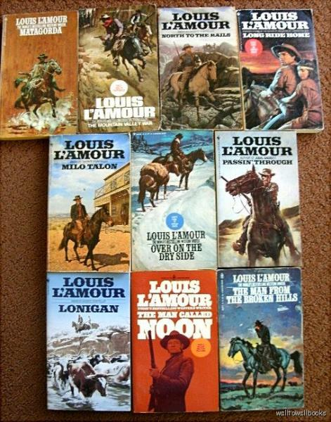 Louis lamour lot of 16 books volumes leatherette covers westerns