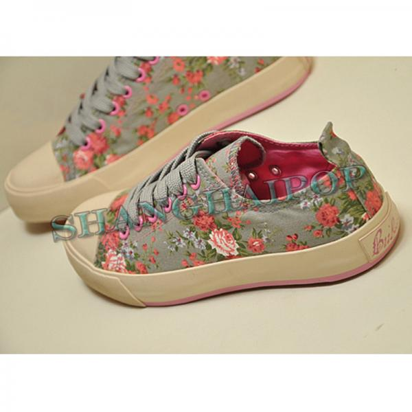 floral lace up trainers sneakers canvas shoes womens