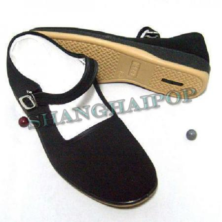 Black Mary Jane Chinese Shoes Slippers