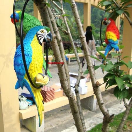 Falso artificial p jaro de loro realista decoraci n hogar for Decoracion hogar quito