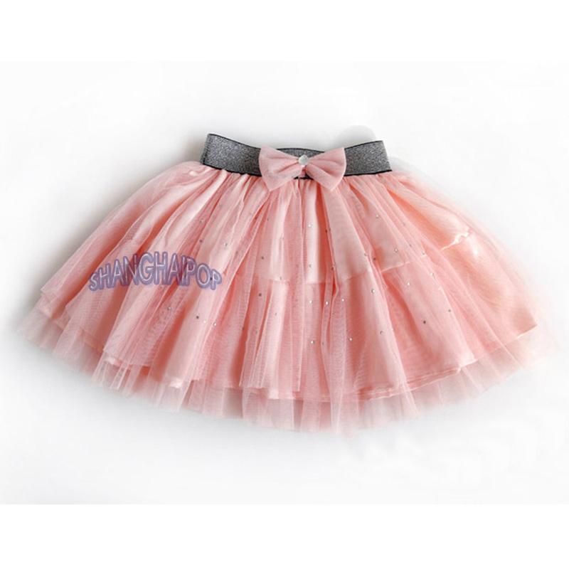 Stud Tutu Mesh Skirt Children Kids Girl Tulle Mini Ballet Ruffle Party Dance New
