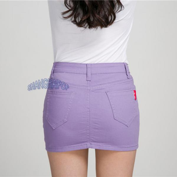 denim mini skirt color micro bodycon bandage
