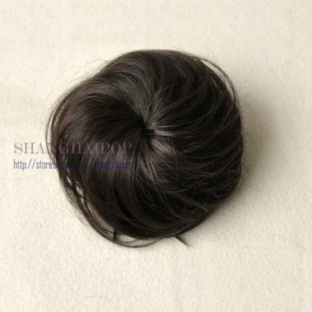 fake hair bun