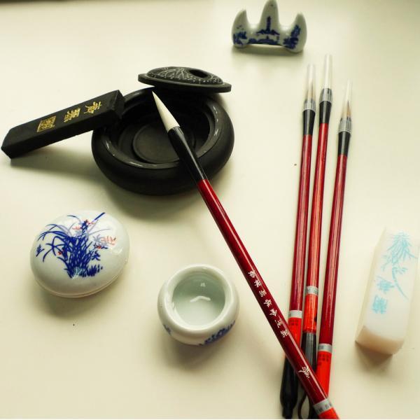 Chinese Calligraphy Painting Kanji Sumi Set Brush Ink