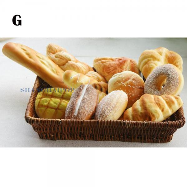 Set of artificial fake bread sandwich pastry baguette for Artificial bread decoration