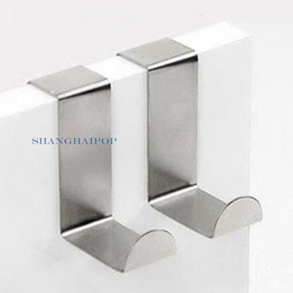 4x metal acero inoxidable ganchos sobre puerta para ropa for Gancho de ropa en ingles
