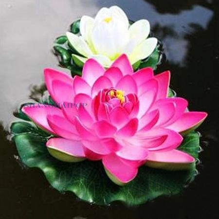 3 X Fake Artificial Lotus Floating Water Lily Flower